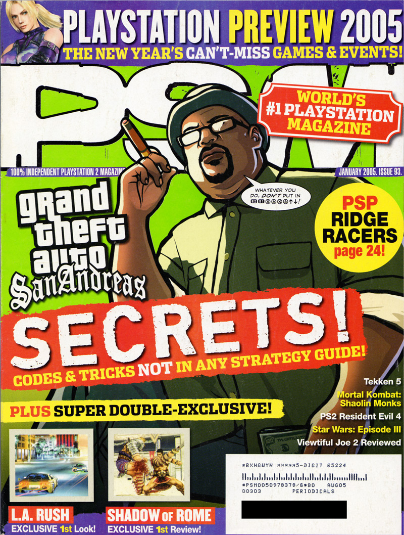Playstation Magazine scan cover