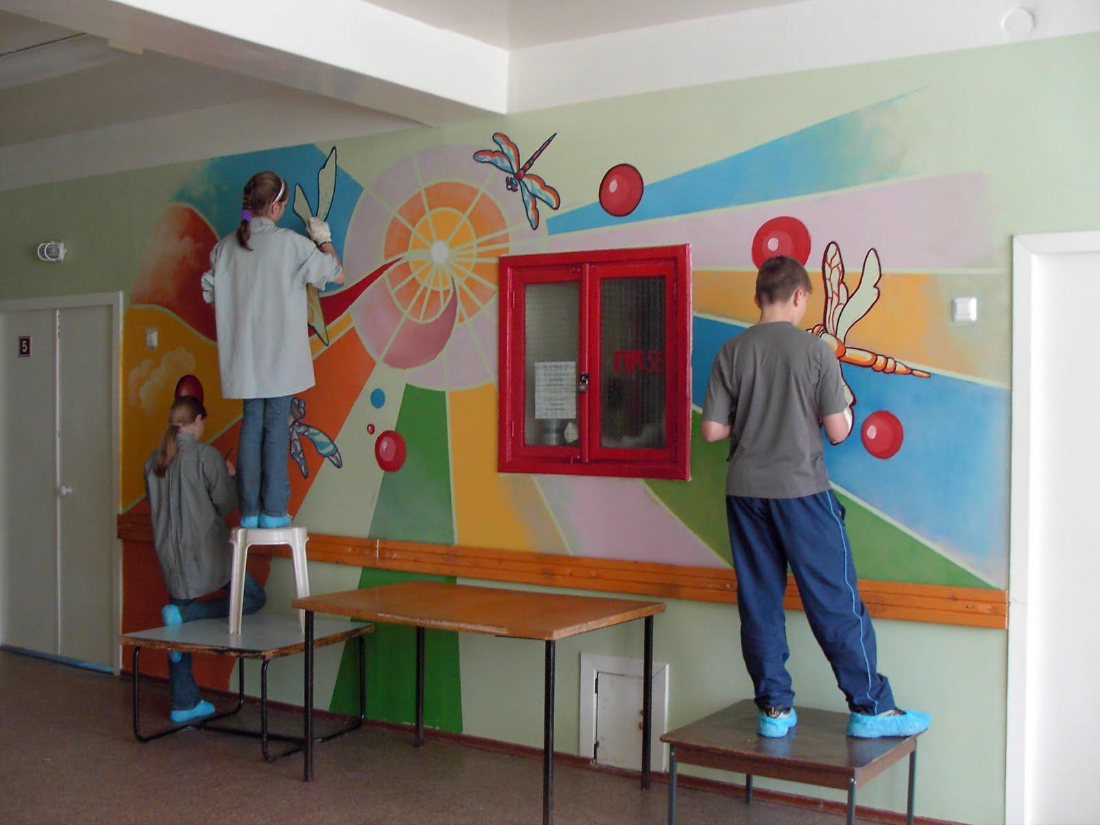 Как оформить коридор в детском саду своими руками фото