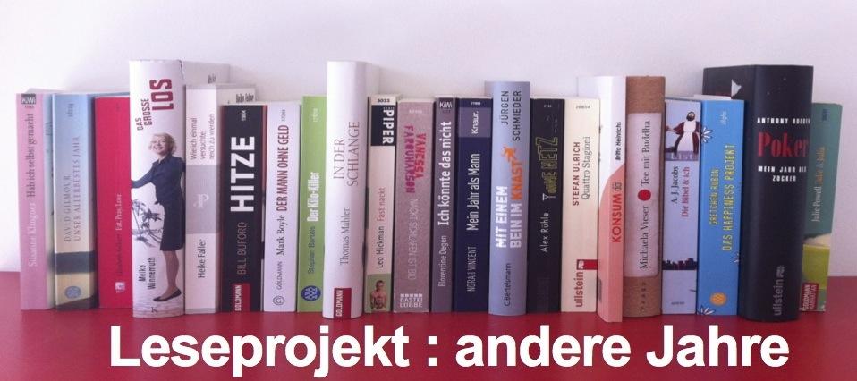 Leseprojekt : andere Jahre