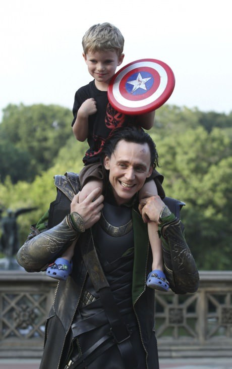 Loki and Little Captain America