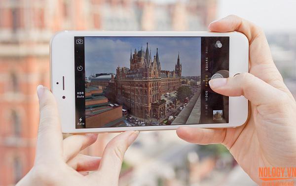 iphone 6s hỗ trợ quay phim 4K và đèn flash để selfies