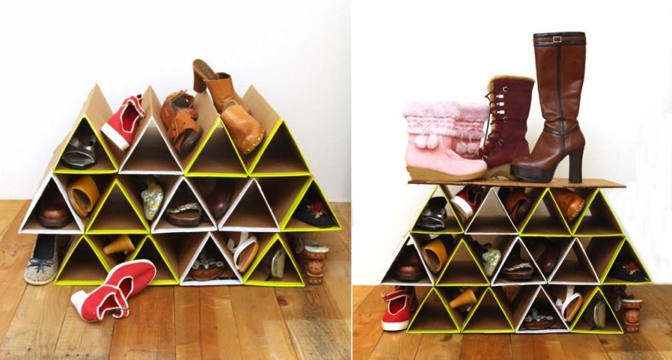 Ingenioso organizador de cart n para acomodar tus zapatos quiero m s dise o - Organizador de zapatos ...