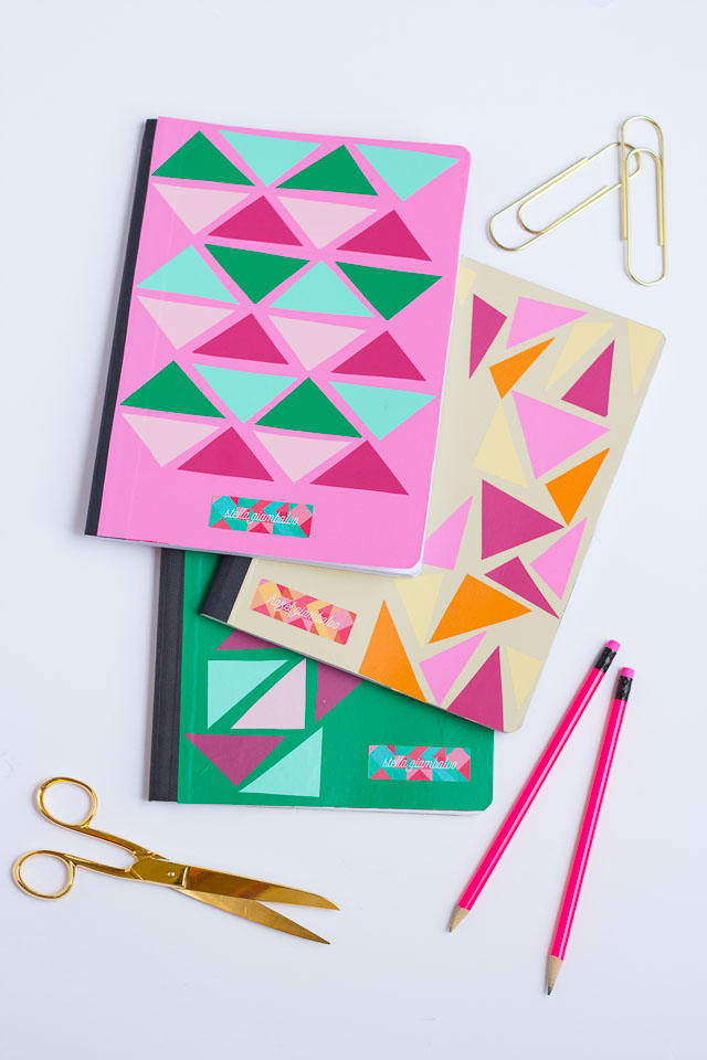 Personalize your school notebooks with vinyl!