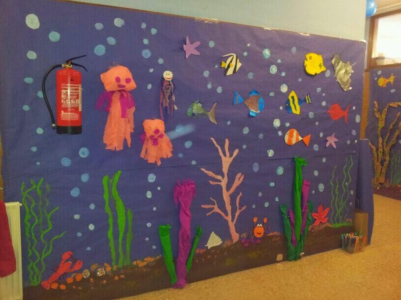 Los proyectos de aula de nika nuestros pasillos decorados for Decoracion verano para jardin infantil