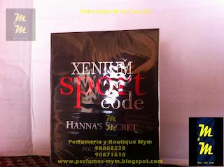perfume xenium sport code hanna's secret