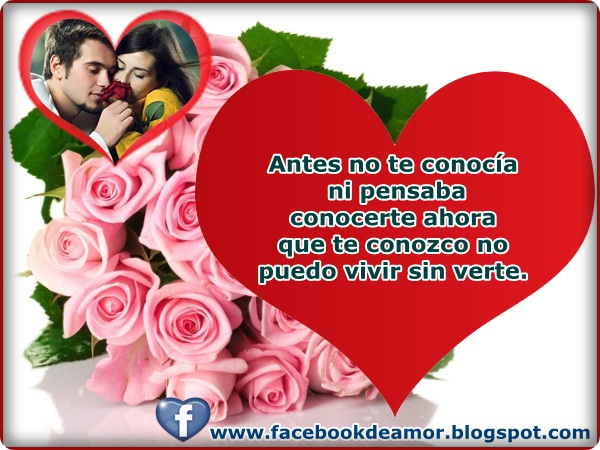 Tarjetas para whatsapp de amor hermosas Frases de  - Tarjetas De Amor Para Enviar Por Facebook