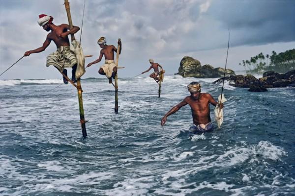 Fotografía curiosa de pescadores