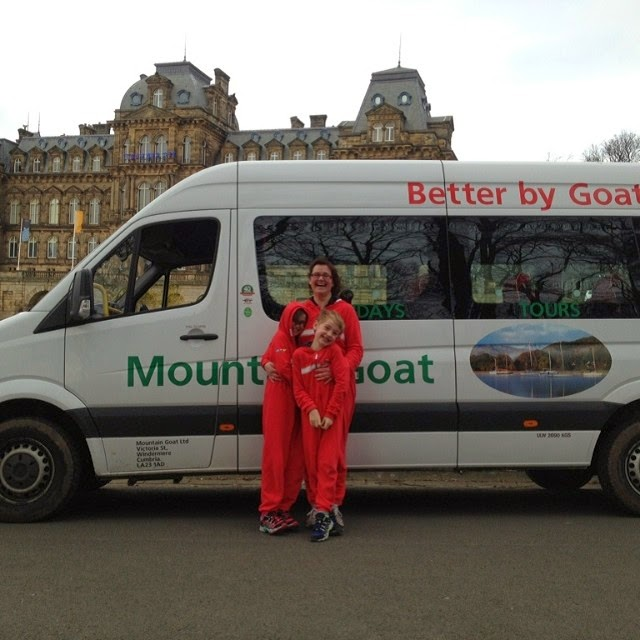 Relieved to get back into our Mountain Goat mini bus