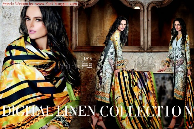Gul Ahmed Winter-Fall Linen Magazine Pictures