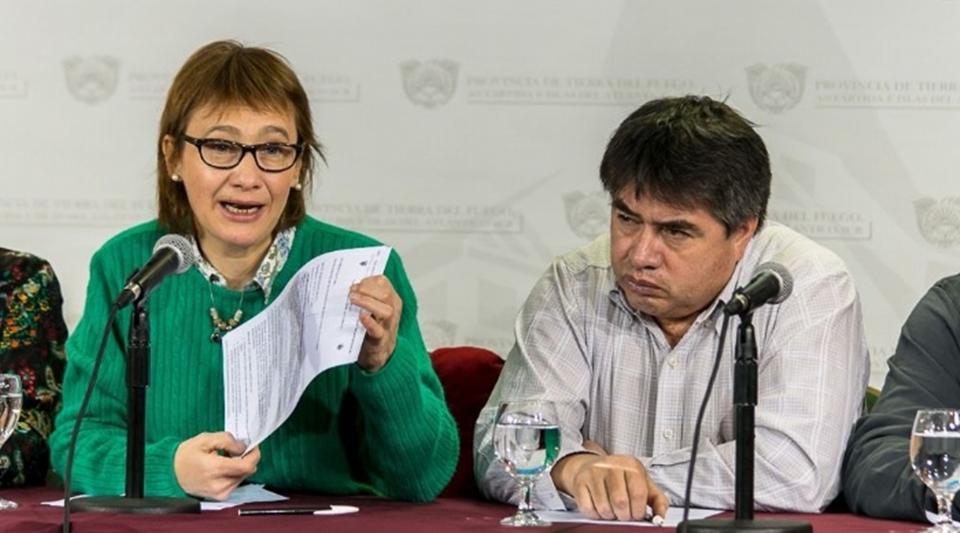 Rios sumo el apoyo de la UOM Ushuaia