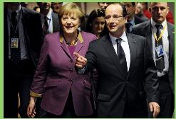 Hollande y Merkel llaman a presidentes de Rusia y Ucrania a ´´no perder más tiempo´´