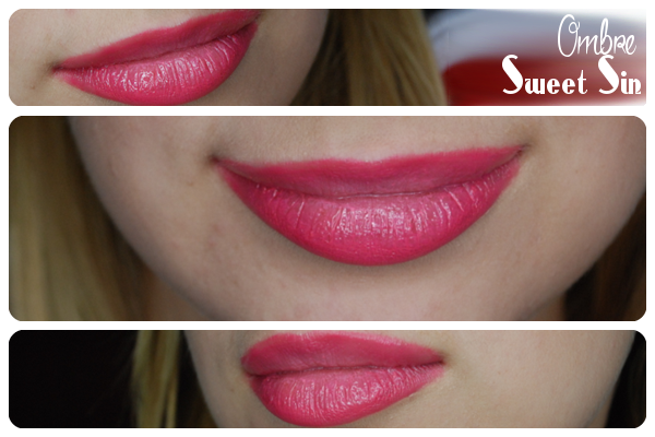 różowe usta ombre