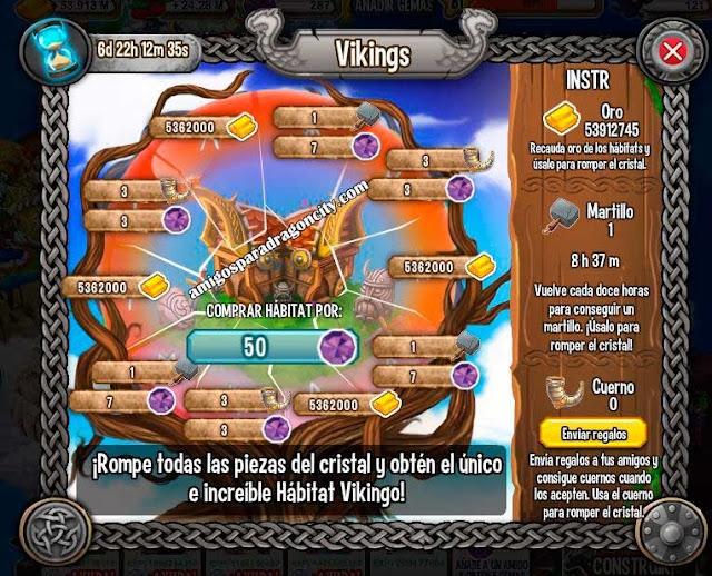 imagen del primer juego de la isloa vikinga de dragon city