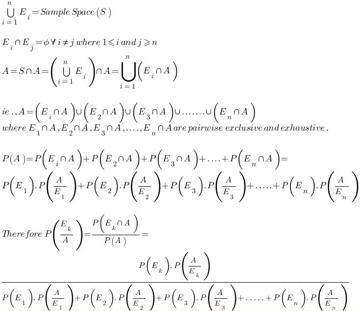 prove bayes theorem