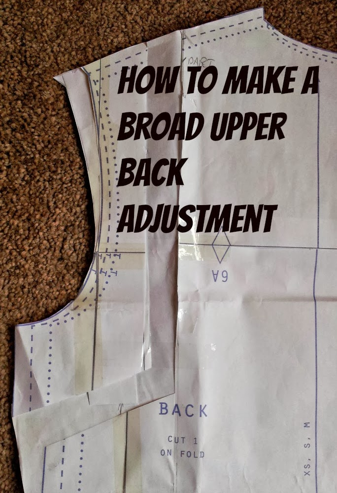 Kestrel Makes How To Make A Broad Upper Back Adjustment