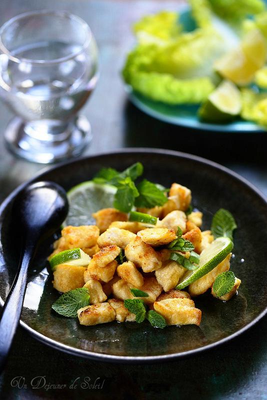 Escalopes de poulet sauté au citron vert (sans gluten)
