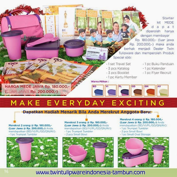 Paket Member MEDE Tulipware 2014