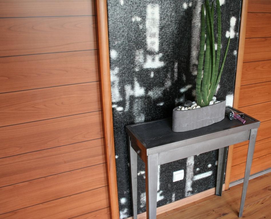 table beton com console b ton cir. Black Bedroom Furniture Sets. Home Design Ideas