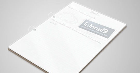 Clean 3D Notepad PSD