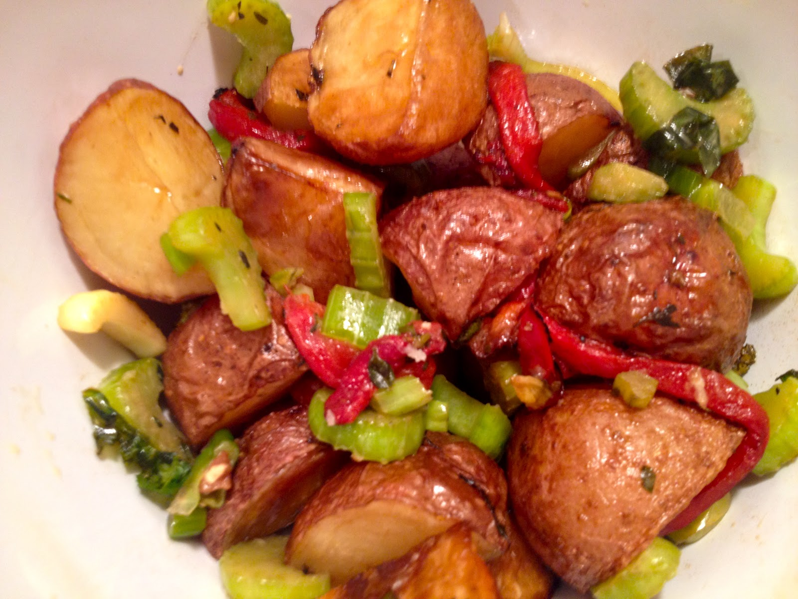 Roasted Red Bliss Potato Salad with Balsamic Vinaigrette
