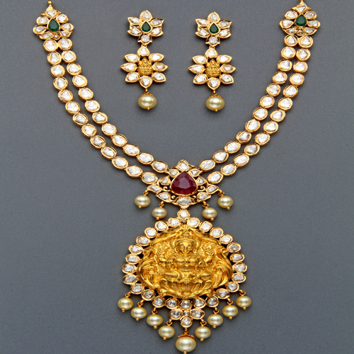 Latest Indian Gold Jewellery Sets Designs For Bridal 2016: Indian Jewellery And Clothing: Polki Necklace Sets From