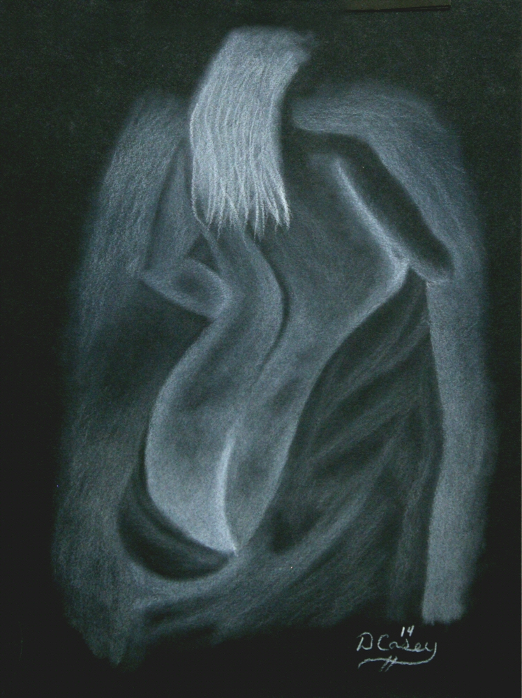 140924 - Day 24a - 30 in 30 Challenge - White charcoal on toned paper -  Dave Casey - TheDailyPainter.jpg