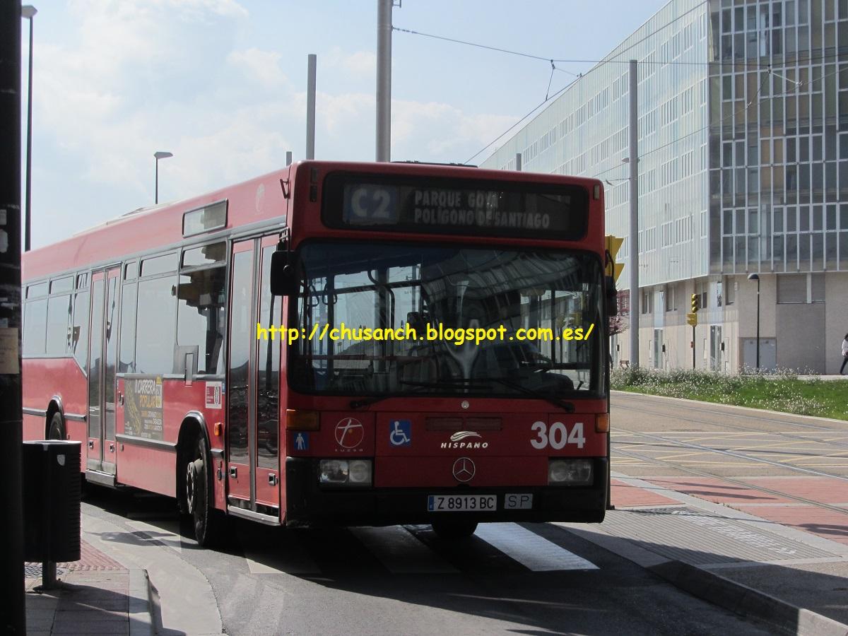 Transporte p blico en zaragoza adios a la c2 for Pisos parque goya 2