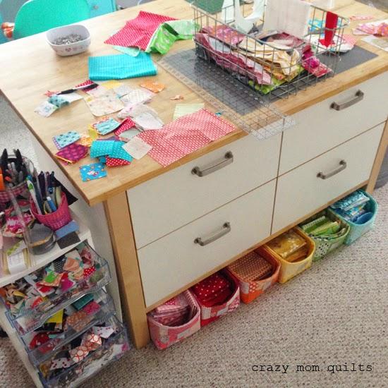 & crazy mom quilts: scrap storage
