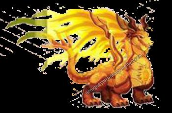 imagen del dragon sun de dragon city