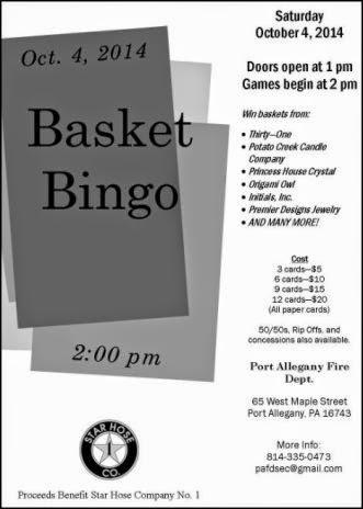 10-4 Port Allegany FD Basket Bingo