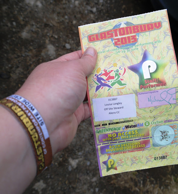 Glastonbury Festival Staff Ticket