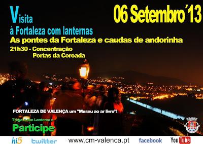 Visita com lanternas às pontes da Fortaleza de Valença