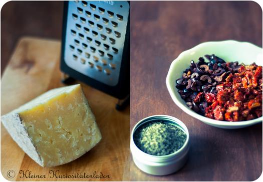 Nordländer, Oliven, eingelegte Tomaten, Thymian