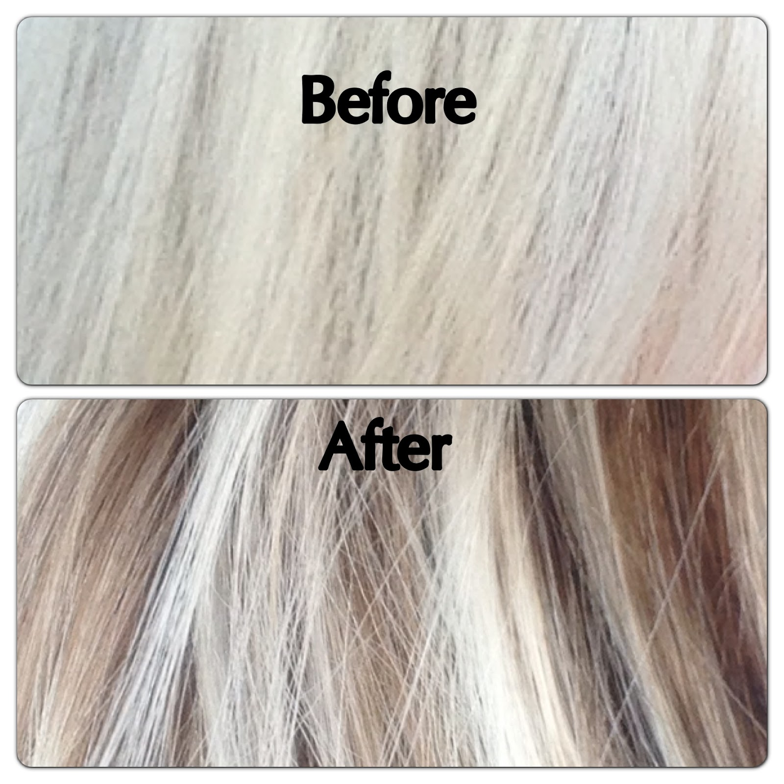 After and Before Gray Hair with Lowlights