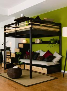 tout sur le lit mezzanine 2 places lit mezzanine 2 places. Black Bedroom Furniture Sets. Home Design Ideas