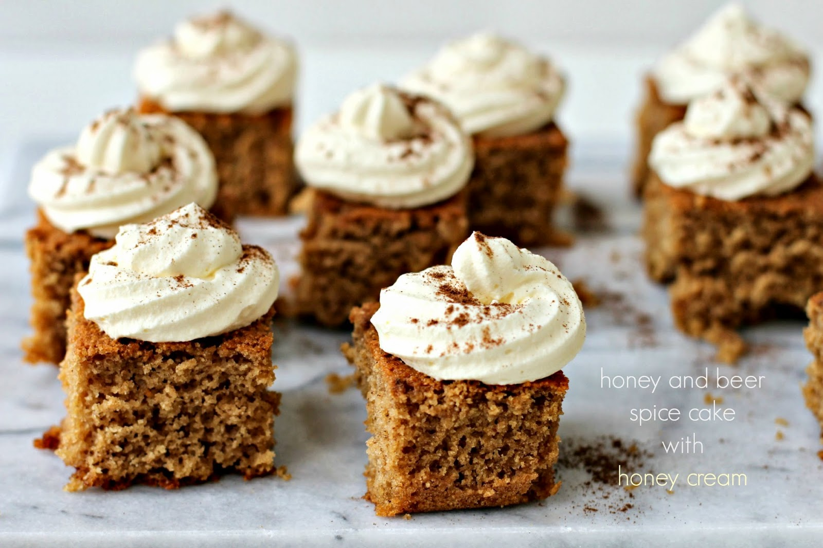 Honey and Beer Spice Cake with Honey Cream