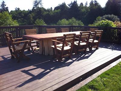 Mathew Isaac s Woodworks Salvaged Redwood Patio Furniture