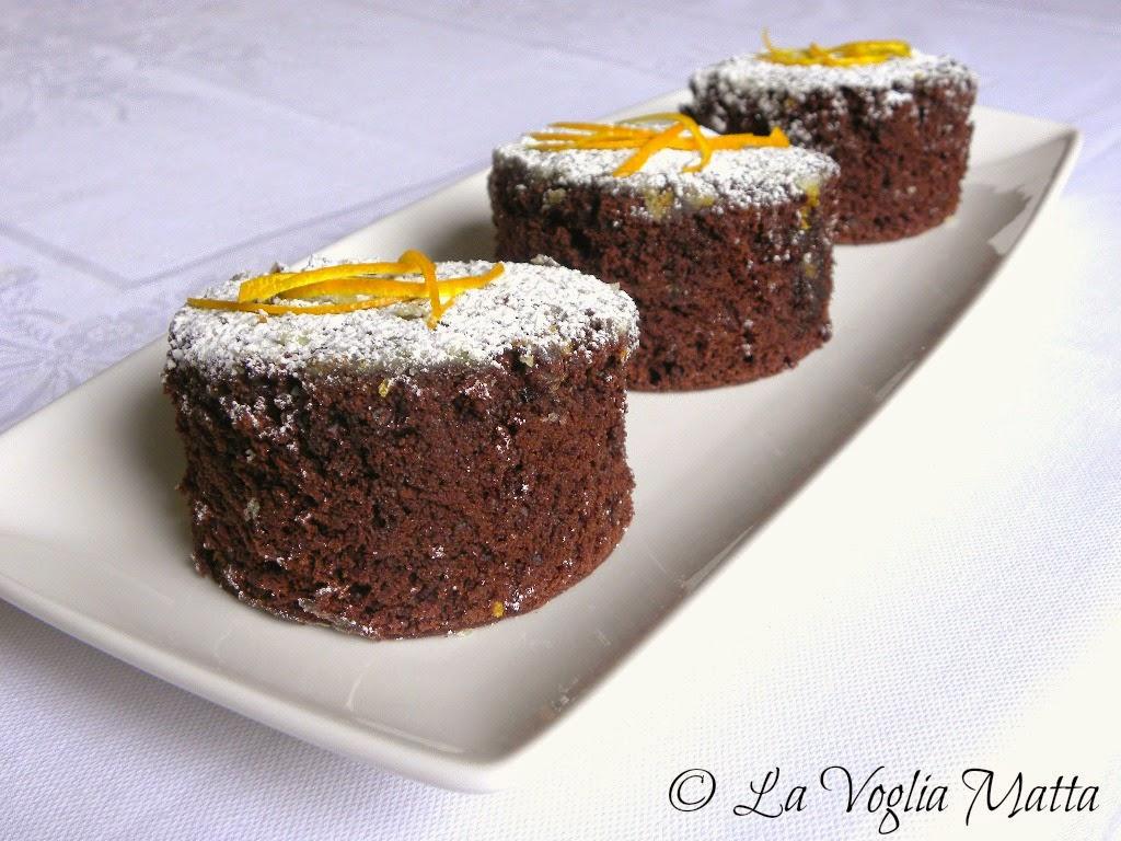 tortini al cioccolato e maionese