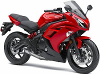 2012 Kawasaki ninja 650 red passion color
