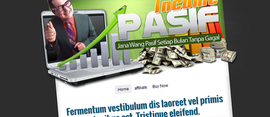 cara buat landing page minisite blogspot