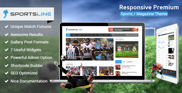 Responsive Sports news magazine template