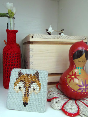 cross stitch fox