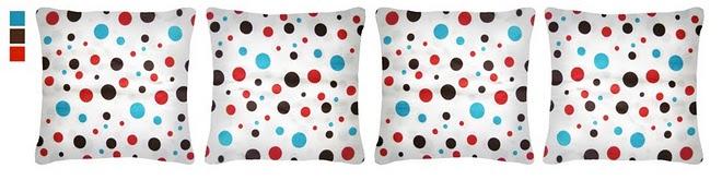 Almofada confete 37x37cm em algodão com fibra de silicone (laváveis) - R$15,00 cada