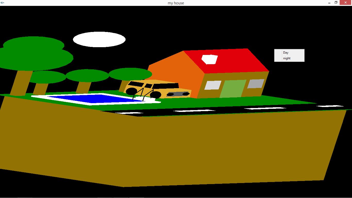 Kishan Download Computer Graphics Open Gl 3d House With Car Mini Project