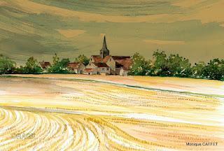 Un été en Picardie, Aquarelle