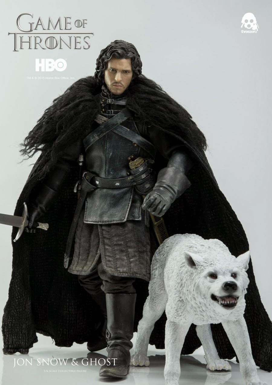 Osr game of thrones hbo 1 6 jon snow ghost collectible figure set by threezero - Game of thrones 21 9 ...