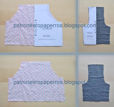 corte patrones vestido