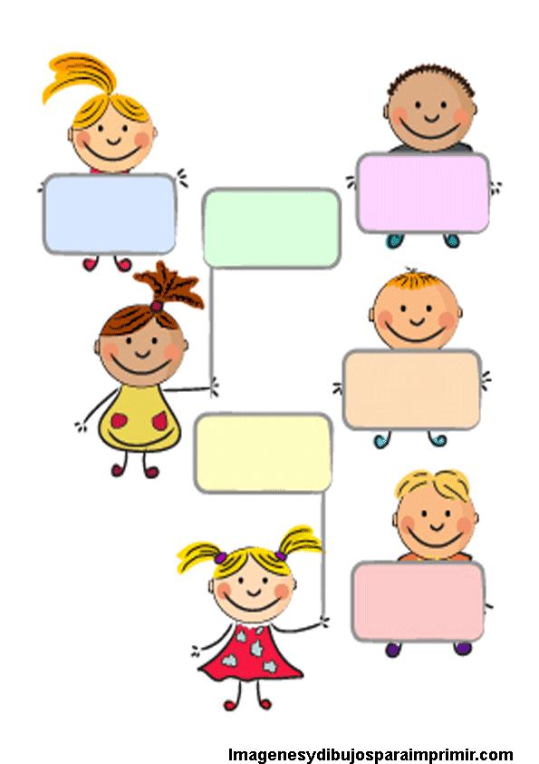 Etiquetas con niños