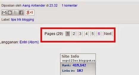 perivew widget angka - angka yang digunakan untuk mengganti tulisan older / newer post (Posting lama / Posting baru) (Gambar tidak terlihat? Klik kanan pada tulisan ini, lalu klik 'Reload Image'