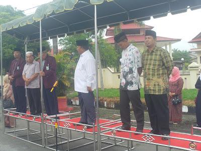 Kakankemenag Tanjungbalai Bersama Wali Kota Terima Pawai HUL YMPI Kota Tanjungbalai